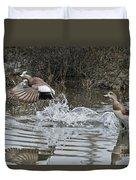 American Wigeon Pair Duvet Cover