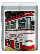 Americana Classic Dinner Booth Service Duvet Cover