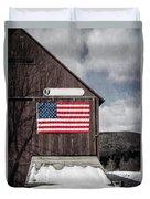 Americana Patriotic Barn Duvet Cover by Edward Fielding