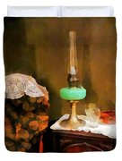 Americana - Still Life With Hurricane Lamp Duvet Cover