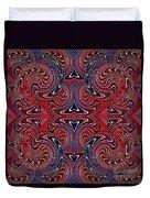 Americana Swirl Design 3 Duvet Cover