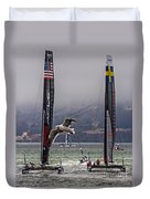 Americas Cup Oracle Team Usa V Artemis Racing Duvet Cover
