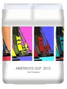 America's Cup Poster 3 Duvet Cover