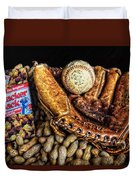 America's Pastime Duvet Cover by Ken Smith