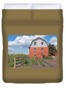 Amish Barn And Garden Duvet Cover