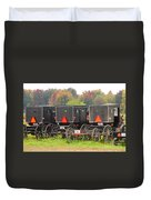 Amish Buggies 2 Duvet Cover