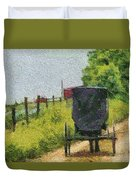 Amish Buggy In Ohio Duvet Cover