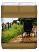 Amish Buggy On Dirt Road Duvet Cover