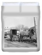 Amish Carriage, 1942 Duvet Cover