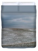 Amish Country In Winter Duvet Cover