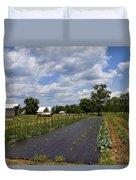 Amish Farm And Garden Duvet Cover