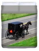 Amish Horse And Buggy In Ohio Duvet Cover