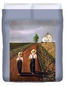 Amish Road Duvet Cover by Linda Simon
