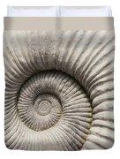 Ammonites Fossil Shell Duvet Cover