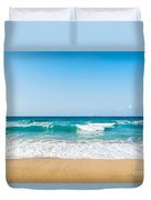 Amnissos Beach Duvet Cover