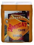Amocat Cafe Duvet Cover