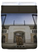 Amon G Carter Stadium At Tcu Duvet Cover