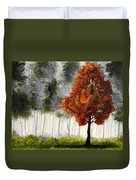 Among The Greens Duvet Cover