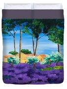 Among The Lavender Duvet Cover