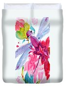 Among The Peonies Duvet Cover