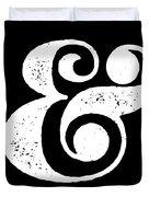 Ampersand Poster Black Duvet Cover