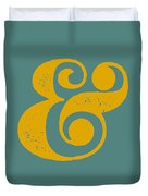 Ampersand Poster Blue And Yellow Duvet Cover