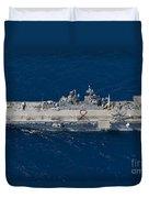 Amphibious Assault Ship Uss Bonhomme Duvet Cover