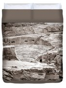 Amphitheater In Petra Duvet Cover