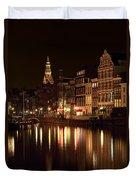 Amsterdam At Night Duvet Cover