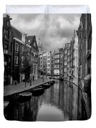 Amsterdam Canal Duvet Cover by Heather Applegate