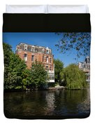 Amsterdam Canal Mansions - Floating By Duvet Cover