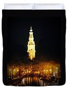 Amsterdam Church And Canal Duvet Cover