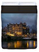 Amsterdam Corner Cafe Duvet Cover