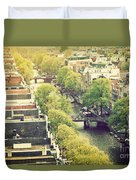 Amsterdam Holland Netherlands In Vintage Style Duvet Cover