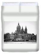 Amsterdam In Black And White Duvet Cover