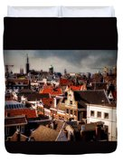 Amsterdam Roofs. View From Metz Cafe Duvet Cover