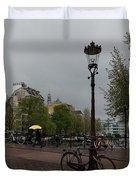 Amsterdam - The Yellow Umbrella Duvet Cover