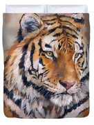 Amur Tiger Duvet Cover by David Stribbling