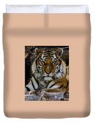 Amur Tiger Watching You Duvet Cover
