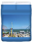 Amusement Park View Duvet Cover
