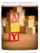 Amy - Alphabet Blocks Duvet Cover