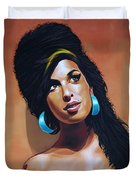Amy Winehouse Duvet Cover by Paul Meijering