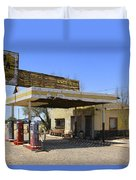 An Abandon Gas Station On Route 66 Duvet Cover
