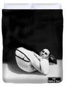 An Advertising Contortionist Duvet Cover