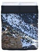 An Afghan Border Patrolman Provides Duvet Cover