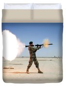 An Afghan National Army Soldier Fires Duvet Cover by Stocktrek Images