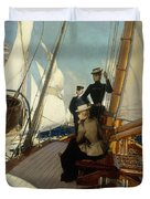 An Afternoon At Sea  Duvet Cover by Albert Lynch