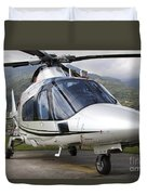 An Agustawestland A109 Power Elite Duvet Cover