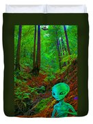 An Alien In A Cosmic Forest Of Time Duvet Cover