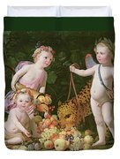 An Allegory Of Peace And Plenty Duvet Cover